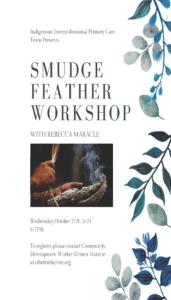 Smudge Feather workshop flyer